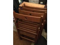 IKEA brown folding chairs TERJE 4 chairs