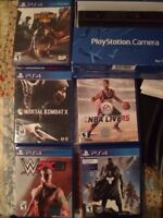 Ps4 games and brand new camera