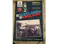Rare euro 96 England vs Scotland programme