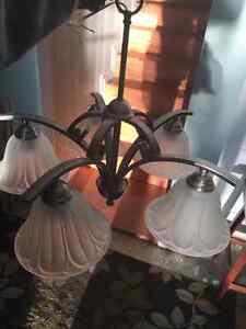 Beautiful pewter colored living, dining room lights, gold kitche Kingston Kingston Area image 2