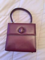 Cartier Must Line Burgundy Leather Hand Bag