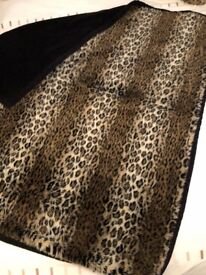 2 Luxurious Double sided Leopard Print Throws