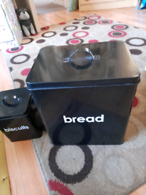 Bread bin and biscuits barrel