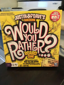 Justin & Dave's Awesome Would You Rather? Game/still sealed