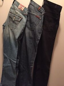 Skinny jeans (true religion and 7 for all mankind)