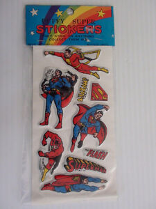 AUTOCOLLANT STICKER SUPERMAN FLASH SHAZAM 1979