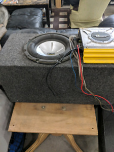"10"" Subwoofer, ported box and amp"
