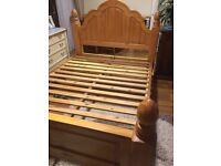 Beautiful pine King size bed