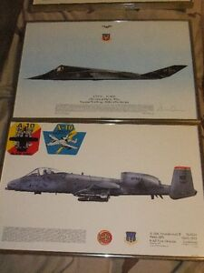 AVIATION SQUADRON PRINTS (7) framed see pics mint condition.OBO.