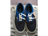Blue/Navy two tone vans trainers