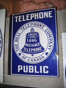 Wanted: Antique \ Vintage - Canadian Telephone Signs