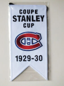 CENTENNIAL STANLEY CUP 1929-30 BANNER MONTREAL CANADIENS HABS