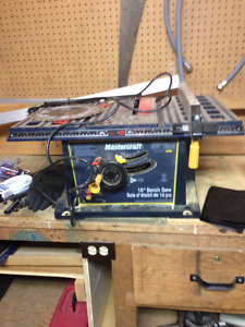 compound mitre saw, table saw