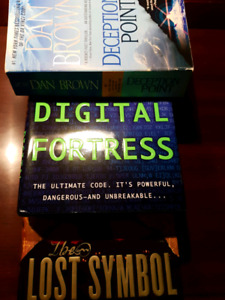 Dan Brown Novel LOT - 2 Hardcover, 1 Paperback