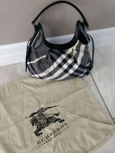 GENUINE BURBERRY Black Check Purse - BRAND NEW!!
