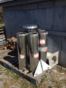 """Insulated chimney 7"""" dia. X 5 sections"""