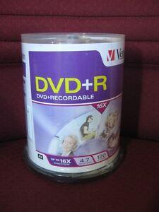 Verbatim Recordable 16X 4.7GB DVD+R - 100 Pack