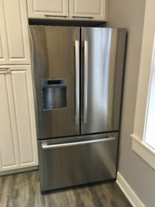 "Bosch Stailess Steel Refrigerator 36""  - needs relay - SAVE!"