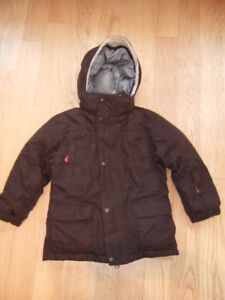 Kids Lands End Expedition Winter Coat - Down - Brown, Size 5/6