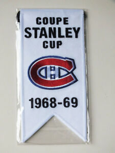 CENTENNIAL STANLEY CUP 1968-69 BANNER MONTREAL CANADIENS HABS
