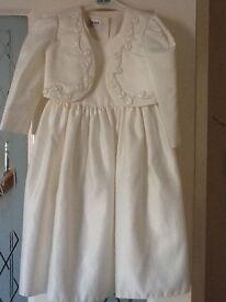 Ivory dress and jacket