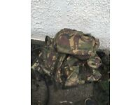 Military bergens assault vests loads of kit