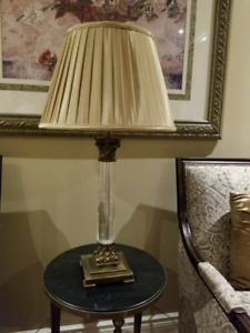 solid brass and crystal lamp