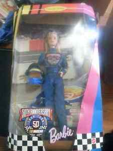 Lot of 3 Nascar Collector Edition Barbie's