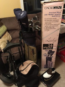 Golf clubs/Golf cart and Golf shoes!!