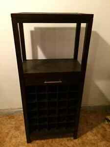 Alcohol and wine holder cabinet