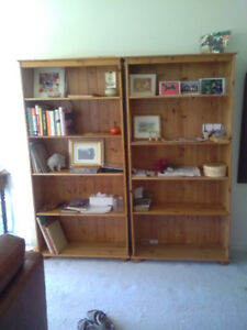 Two Solid Pine Bookcases