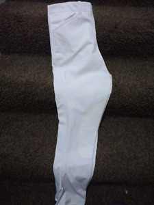 New Elation white show breeches size 26