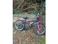 Children's bike black and pink Apollo BMX Awesome