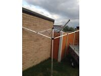 Outdoor Rotary Clothes 4 arm Airer