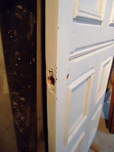 ANTIQUE SOLID WOOD DOORS WITH PANELS West Island Greater Montréal image 2