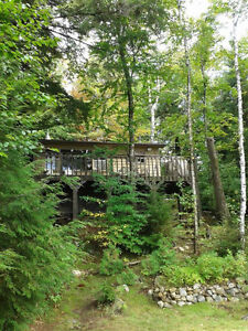 Beautiful lakeside cottage in environmentally protected park
