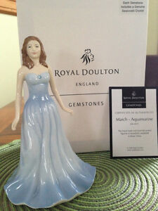 "Royal Doulton Gemstones ""March – Aquamarine"" Figurine HN 4972"