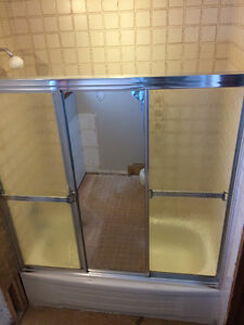 3 panel shower doors