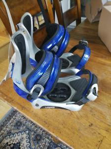 Liquid snowboard bindings
