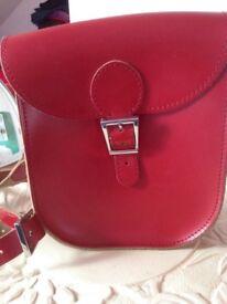 ️🎒 ❤️Original Brit-stitch bag in vintage red as New