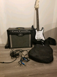 Electric guitar , Amp and Distortion Pedal