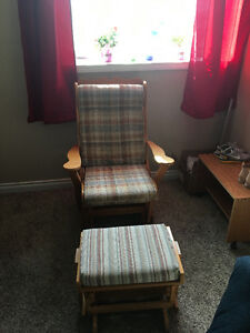 Wooden rocking chair and stool Moose Jaw Regina Area image 2