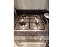 Electrolux 4 burner gas hob and zanussi fan oven
