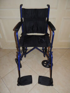 Invacare Light Weight Transport Chair (easily folds up)