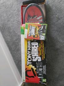 Xbox Tony hawk shred game and board