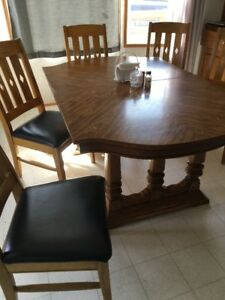 table, chairs and china cabinet for sale