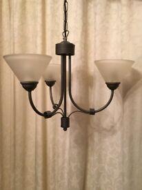 Beautiful Next Grey Chandelier Style Light Fitting