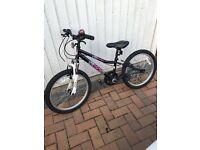 "Apollo Chaos Girls Mountain Bike Bicycle 20"" Inch Wheels 6 Gears Steel Frame"