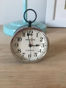 Newgate Made in England small metal and glass alarm clock