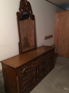 Beautiful Wood Dresser with Mirror